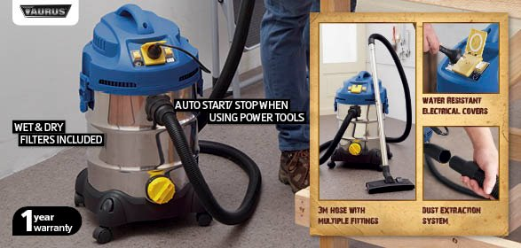 Aldi taurus high powered wet and dry vacuum with dust for Aldi gardening tools 2015